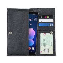 Etui HTC U12 Plus Olixar Primo pochette portefeuille – Noire