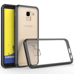 Custom moulded for the Samsung Galaxy J6 2018, this clear and black edged Olixar ExoShield tough case provides a slim fitting, stylish design and reinforced corner protection against shock damage, keeping your device looking great at all times.