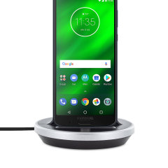 Synchronise and charge your Motorola Moto G6 Plus with this stylish and case compatible desktop dock which also acts as a multimedia stand. Supports USB-C (USB Type-C).