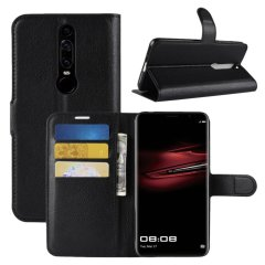 Protect your Huawei Mate RS Porsche Design with this durable and stylish black leather-style wallet case by Encase. What's more, this case transforms into a handy stand to view media.