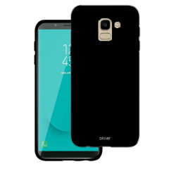 Custom moulded for the Samsung Galaxy J6 2018, this Solid Black FlexiShield case from Olixar provides a slim fitting and durable protection against damage, with an alluring jet black appearance.