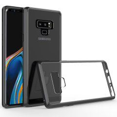 Custom moulded for the Samsung Galaxy Note 9. This black and clear Olixar ExoShield tough case provides a slim fitting stylish design and reinforced corner shock protection against damage, keeping your device looking great at all times.