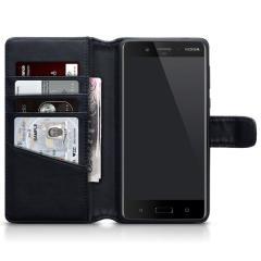 Encase Nokia 8 Genuine Leather Wallet Case - Black