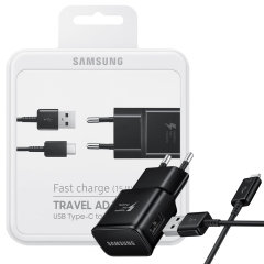 Official Samsung Adaptive Fast Charger & USB-C Cable - EU - Black
