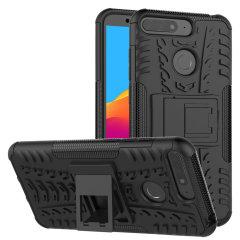 Protégez votre Huawei Honor 7A des chocs et des éraflures grâce à cette coque Olixar ArmourDillo en coloris noir. Cette coque est composée d'un boîtier interne en TPU et d'un exosquelette externe résistant aux impacts. Elle comprend par ailleurs un support de visualisation intégré.