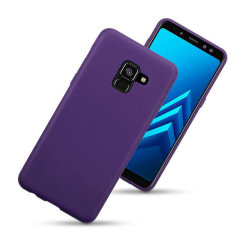 Custom moulded for the Samsung Galaxy A8 2018, this purple case provides slim fitting and durable protection against damage.