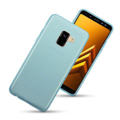 Encase Samsung Galaxy A8 2018 Gel Slim Case - Blue