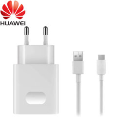 A genuine Huawei EU SuperCharge mains charger for your SuperCharge compatible Huawei device. Featuring a compact design for travel convenience and a genuine Huawei USB-C charging cable.
