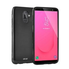 Custom moulded for the Samsung Galaxy J8 2018, this Solid Black FlexiShield case from Olixar provides a slim fitting and durable protection against damage, with an alluring jet black appearance.