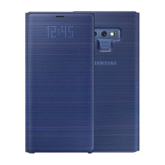Schützen Sie Ihren Samsung Galaxy Note 9 Bildschirm vor Schaden und halten Sie sich auf dem Laufenden mit Ihren Benachrichtigungen über die intuitive LED-Anzeige mit der offiziellen Orchidee grauen LED-Abdeckung von Samsung