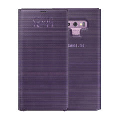 Protect your Samsung Galaxy Note 9 screen from harm and keep up to date with your notifications through the intuitive LED display with the official lavender LED cover from Samsung.