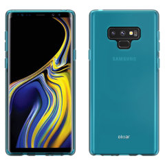 Custom moulded for the Samsung Galaxy Note 9. This blue Olixar FlexiShield case provides a slim fitting stylish design and durable protection against damage, keeping your device looking great at all times.