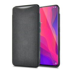 Protect your Oppo Find X with this slim fitting and smooth touch Fabric case from Olixar. Featuring a premium black fabric with a contrasting dark TPU frame, this case matches the beauty of your new Oppo Find X perfectly.