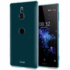 Custom moulded for the Sony Xperia XZ3, this blue FlexiShield case from Olixar provides a slim fitting and durable protection against damage, with an alluring jet black appearance.