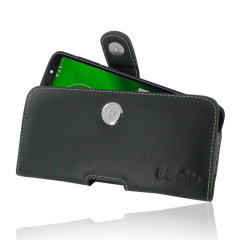 This premium leather pouch case for the Moto G6 Plus will keep your device fully protected while remaining stylish with its soft leather finish. Featuring a magnetic fastening to securely hold your device and a robust belt clip for effortless carrying.
