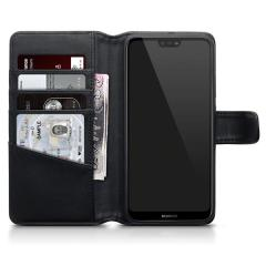 The Olixar genuine leather wallet case offers perfect protection for your Huawei P20 Lite. Featuring premium stitch finishing, as well as featuring slots for your cards, cash and documents.