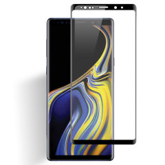 This ultra-thin tempered glass full cover screen protector for the Samsung Galaxy Note 9 from Olixar with black front offers toughness, high visibility and sensitivity all in one package.