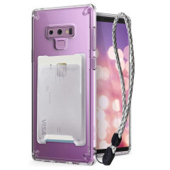The 3-in-1 Rearth Ringke Fusion Samsung Galaxy Note 9 is an exceptional utility with a professional aesthetic to create a case that's perfect for everyday use. Complete with flip wallet attachment and wrist strap to secure your phone to your hand.