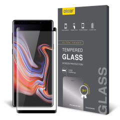 Keep your Samsung Galaxy Note 9's screen in pristine condition with this Olixar Tempered Glass curved screen protector, designed for full coverage of your phone's screen. This design leaves enough space for a case too.