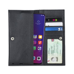 Olixar Primo Genuine Leather Oppo Find X Pouch Wallet Case - Black