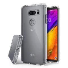 Protégez l'arrière et les côtés de votre LG V35 à l'aide de cette superbe coque Rearth Ringke Fusion incroyablement résistante en coloris transparent.