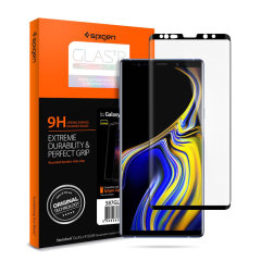 Introducing the ultimate in screen protection for the Galaxy Note 9, the GLAS.tR Series made from premium real glass with rounded edging, oleophobic coating and anti-shatter film. This screen protector is simple to install and offers great sensitivity