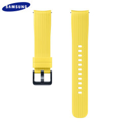 Treat your brand new Samsung Galaxy Watch with the ultra-high quality silicone strap in yellow. Comfortable, durable and stylish, this 20mm strap is the perfect way to personalise your Samsung Galaxy Watch.