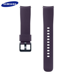 Treat your brand new Samsung Galaxy Watch with the ultra-high quality silicone strap in violet. Comfortable, durable and stylish, this 20mm strap is the perfect way to personalise your Samsung Galaxy Watch.