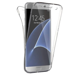 Olixar FlexiCover Full Body Samsung Galaxy S7 Edge Gel Case - Clear