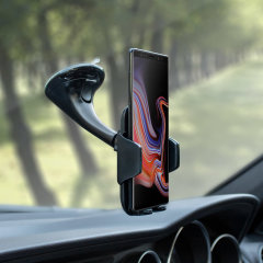 Dock your Galaxy Note 9 safely in the car with this Genuine Samsung Universal Vehicle Dock and Windscreen Mount, ideal for when you use your Note 9 as a Sat Nav.