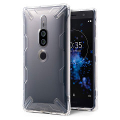Protect the back and sides of your Sony Xperia XZ2 Premium with this incredibly durable and crystal backed Air X Case by Ringke. With added shock protection, your phone will be protected against drops, bumps and knocks.