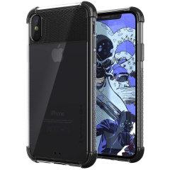 Covert 2 skyddande stötskal från Ghostek ger din iPhone XS ett fantastiskt skydd, samtidigt som det framhäver dess fantastiska design. Med förstärkta hörn ger den extra droppskydd så att din telefon sitter säkert i skalet.