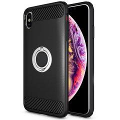 Gemaakt voor de iPhone XS Max, deze ArmaRing case van Olixar biedt extreme bescherming en een vingerlus om je telefoon in de hand te houden, of het nu gaat om een val of een poging tot diefstal. Verdubbelt ook als een stand.