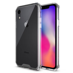 Custom moulded for the iPhone XR. This crystal clear Olixar ExoShield tough case provides a slim fitting stylish design and reinforced corner shock protection against damage, keeping your device looking great at all times.