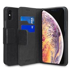 Die lederne iPhone XS Max Geldbörse Hülle im Olixar-Stil wird auf der Rückseite Ihres Telefons befestigt, um einen geschlossenen Schutz zu bieten und kann auch zur Aufbewahrung Ihrer Kreditkarten verwendet werden. Lassen Sie also Ihre normale Brieftasche zu Hause, wenn Sie mit leichtem Gepäck reisen müssen.