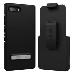 A sleek and slimline soft-touch black case for the BlackBerry KEY2 that offers superb protection yet adding very little bulk to your phone. The Combo includes the SURFACE holster for the KEY2, so you can clip your phone to your belt.