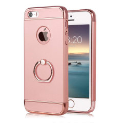 Custom made for the iPhone SE, this rose gold XRing case from Olixar provides excellent protection and a handy finger loop to keep your phone in your hand, whether from accidental drops or attempted theft.