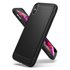 Provide your iPhone XS with sleek, yet heavy duty protection and premium brushed metal look offering Ringke Onyx case. The precision-cut design and anti-slip finish will preserve the aesthetic and offer a great comfort whilst using iPhone XS.