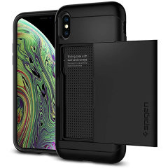 The Slim Armor® CS for the iPhone XS combines extreme defense with on-the-go storage. Designed to be slim and pocket-friendly, the dual-layer structure is built with Air Cushion Technology packed into every corner for bolstered drop-defence.