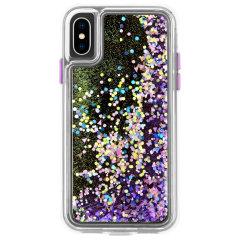 Optez pour la coque de protection ultra-mince Case-Mate Waterfall Glow Glitter pour votre iPhone XS en coloris violet / transparent. Dotée d'une conception double couche et d'un sublime design, cette coque a été fabriquée selon les normes militaires américaines pour résister aux dommages accidentels.