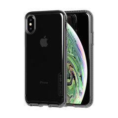 Protect your iPhone XS and keep it looking as good as new with the Pure Tint case in carbon by Tech21. Despite being ultra-thin and lightweight, the case protects your device from drops of up to 10 feet!