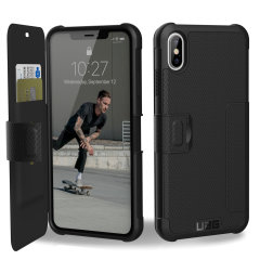 Equip your iPhone XS Max with extreme, military-grade protection and storage for cards with the Metropolis Rugged Wallet case in black from UAG. Impact and water resistant this is the ideal way of protecting your phone and providing card storage.