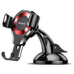 Baseus Osculum Gravity Universal Car Mount - Black / Red