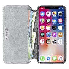 Krusell's Broby 4 Card Slim Wallet leren hoes combineert Nordic chic met Krusell's waarden van duurzame productie voor de sociaal bewuste iPhone XS-bezitter die op zoek is naar 360 ° bescherming met extra opslagruimte voor contant geld en kaarten.