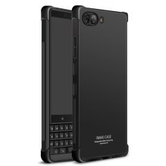 Custom moulded for the BlackBerry Key2, this solid black IMAK case provides slim fitting and durable protection against damage.