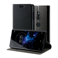 This officially licensed standing book case in black by Roxfit houses the Sony Xperia XZ3 within a form fitting frame, which includes an ultra-high quality protective shell and a super-slim PU front flap. Also comes with a handy horizontal stand function.