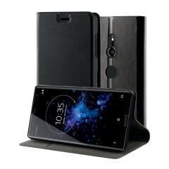 Dieses offiziell lizensierte Stehbuchet in Schwarz von Roxfit beherbergt das Sony Xperia XZ3 in einem formschlüssigen Rahmen, der eine extrem hochwertige Schutzhülle und eine super-schlanke PU-Frontklappe beinhaltet. Kommt auch mit einer praktischen horizontalen Standfunktion.