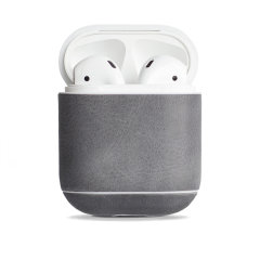 Add superior protection to your Apple AirPods case  in grey with this elegant, classic and stylish genuine leather cover from Krusell. The cover allows full access to your AirPods and adds premium protection for a peace of mind.
