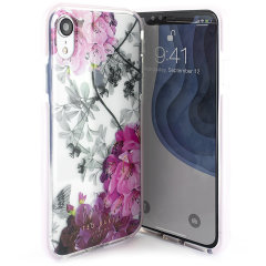 Form-fitting and bulk-free, the Babylon Nickel case for iPhone XR from Ted Baker sports an ethereal, otherworldly floral aesthetic while also offering superlative protection for your device from drops, scrapes and other damage.