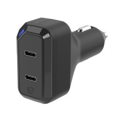 The Scosche StrikeDrive 3.0 features dual 18W USB-C charging ports for super fast charging. Compact and sleek in design, the StrikeDrive is easy to carry with you and includes Power Delivery 3.0, so your devices will never go without charge.